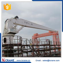 Hydraulic Slewing Ship Loading and Unloading Crane, Marine Pedestal Crane