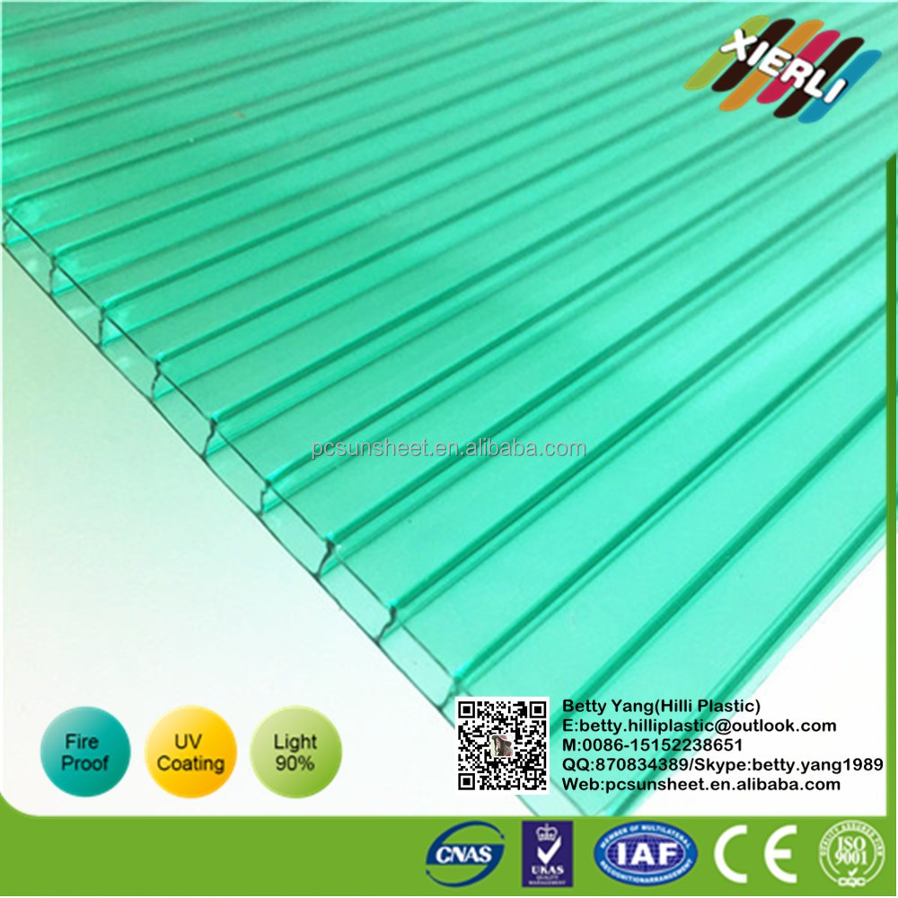 Poultry farm Polycarbonate hollow sheet, Solar panels from polycarbonate corrugated plastic roofing sheets in China