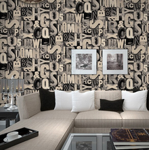Fashion Letter Patterns Wallpaper Bar Wall Coating 3D Embossed Debossed PVC Stickers 53cm*10m/roll STOCK 3 Layers Waterproof
