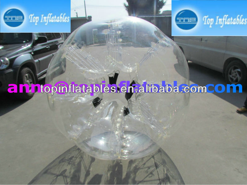 TOP TPU/PVC inflatable football bubble balls,inflatable bubble soccer