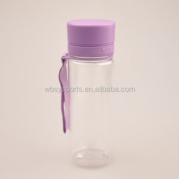 Joyshaker logo tritan water bottle with SS ball and rope