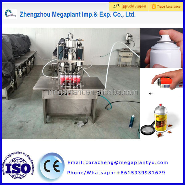 Automatic aerosol spray filling machine / car paint filler/aerosol insecticides filling machine