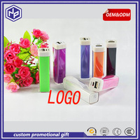 promotional gift lovely lipstick slim powerbank for ladys