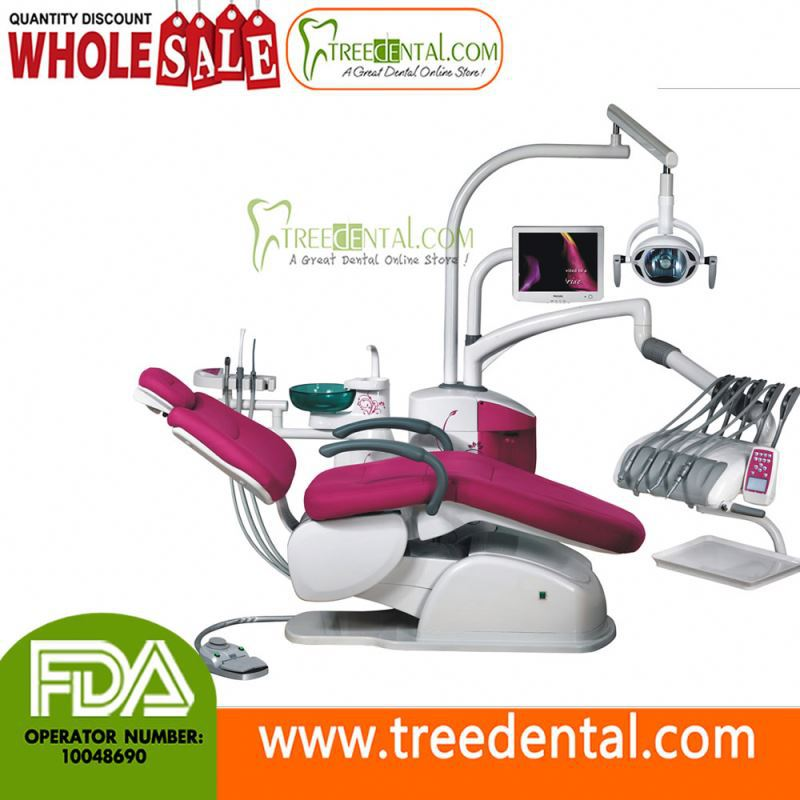 TR-A6600 Computer Control Unique Electric Dental Chair/Unit(leather cushion) ce dental equipment