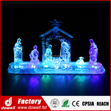 Wholesale Tabletop Display Figurine Craft Gift LED Lighted Christmas Nativity Sets