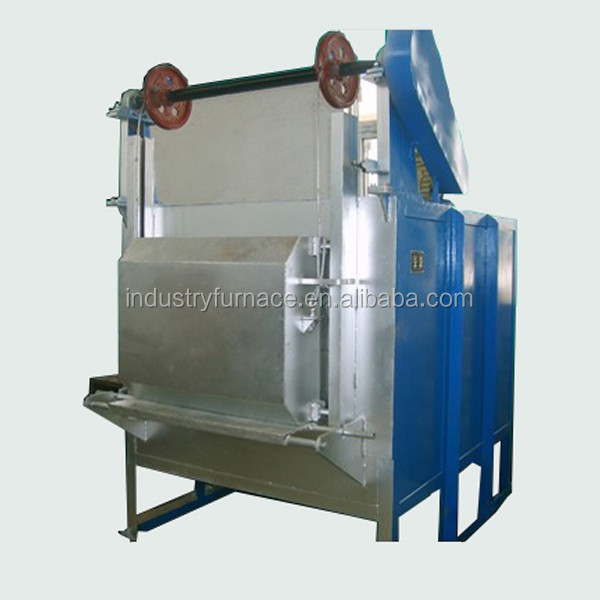 Box type electric heat treating oven for small batch heat treatment