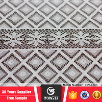 Factory price wholesale knitted 2016 new white net square lace fabric