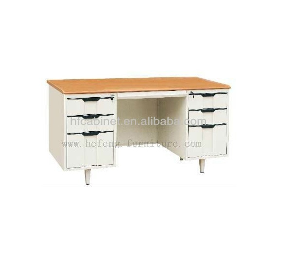 Knock down cheap metal iron computer desk