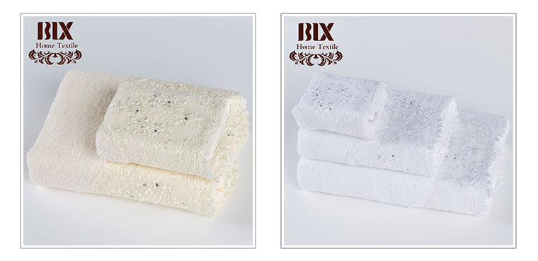 China factory  white 100% cotton terry softextile embroidery towel