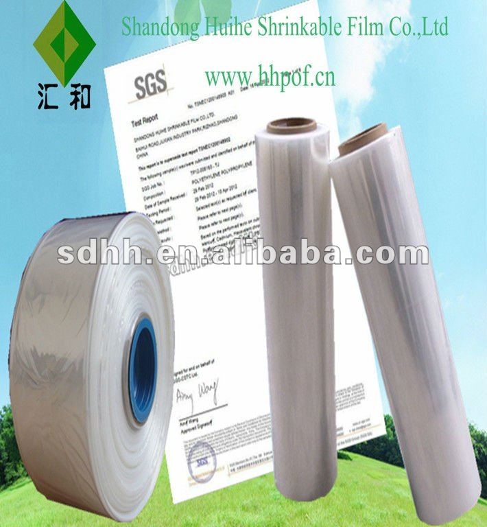 pof shrink hot blue film with FDA standard