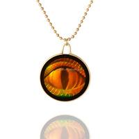Custom one eye image necklace glass cabochon necklace glass dome necklace