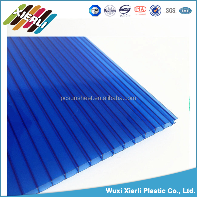 6mm Twin-wall polycarbonate rigid pvc sheet