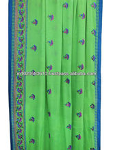 Indian wholesale saree with embroidery and block print