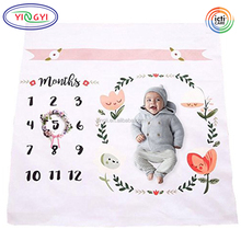G102 Photography Backdrop Photo Prop For Newborn Boy Baby Monthly Milestone Blanket