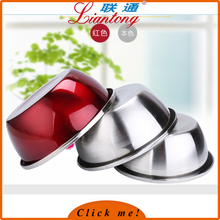 Customized colorful stainless steel salad bowl / small size round basin