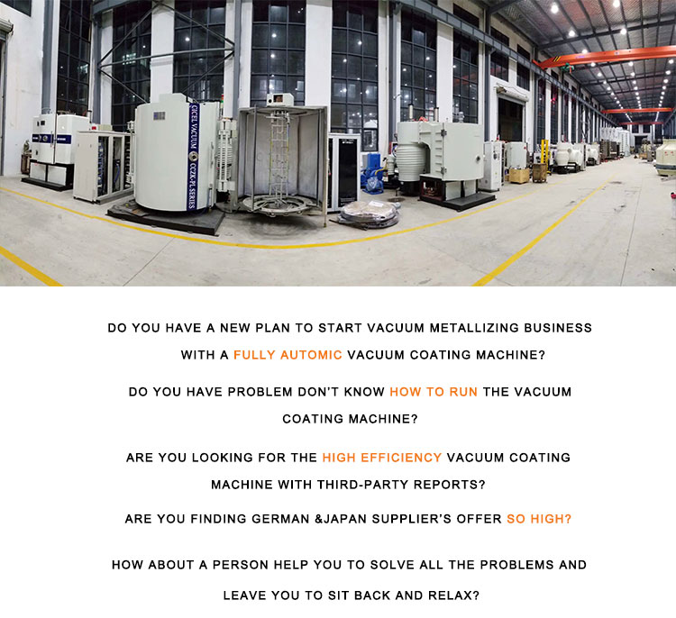 CE Certificated Fast Curing UV Oven Vacuum Coating Plant electric aluminium vacuum coating machine