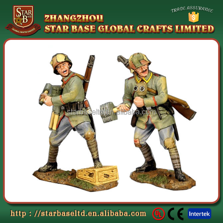 Metal army collection custom War worlder 2 pewter lead alloy painted soldier craft