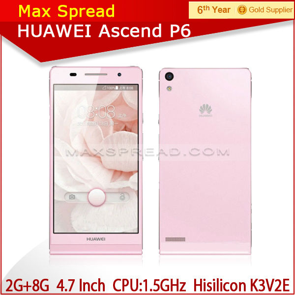 Hot Selling HUAWEI Ascend P6 Android 4.2 quad core MTK6589 5MP/8MP factory prices cell phones