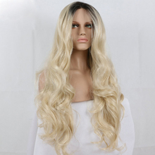 China human hair factory color 613 blonde full lace wig dark roots wavy wig front lace wig