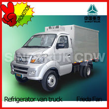 4 ton mini refrigerated van box cargo truck for sale