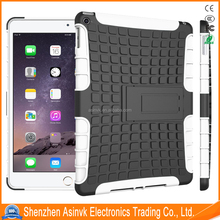 Pc+Tpu Dual Layer Heavy Duty Defender Hybrid Armor Shock Absorbent Tyre cover case with Kickstand For iPad 6/iPad Air 2