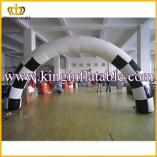 White Use Inflatable Finish Arch For Racing Event, Advertising Inflatable Arch/Archway Door
