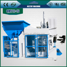 QMY12-15 machines for manufacturing conctete tiles /automatic production line of concrete block