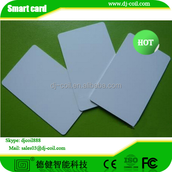 Custom printing blank pvc id card samples for hotel lock