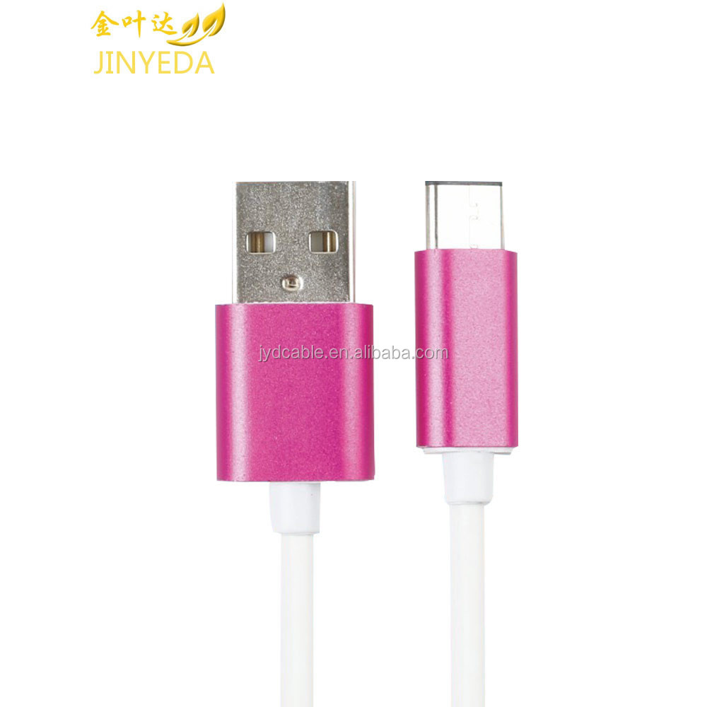 High quality PE coated USB cable type C charging cable for HUAWEI P9 charging cable