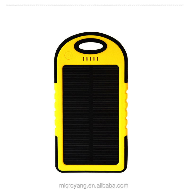 2016 hot solar battery chargers 5000mah portable usb solar energy panel power bank / inverter charger solar panel