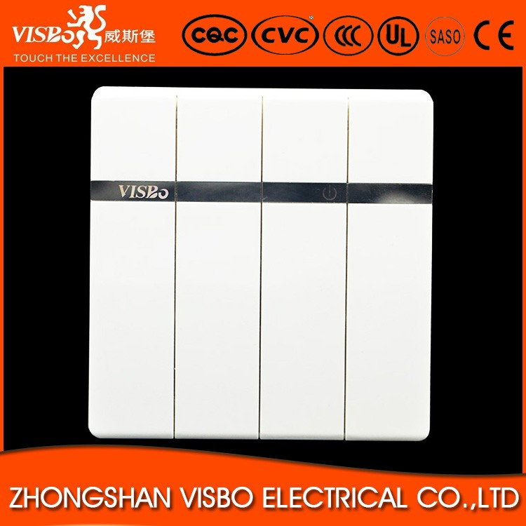 Hot Sale 4 Gang 2 Way Remote Wall Light Switches