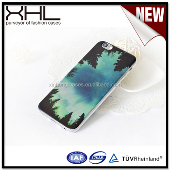 Ultra-thin Sublimation tpu case for IPhone6s manufacturers customized original protective cover semi-permeable landscape