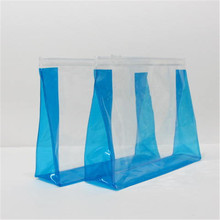 Wholesale simple clear pvc ziplock bag stand up pouch