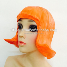 Halloween Party Carnival Shanghai Night Costumes Funny Realistic Fancy Latex Female Wig Mask