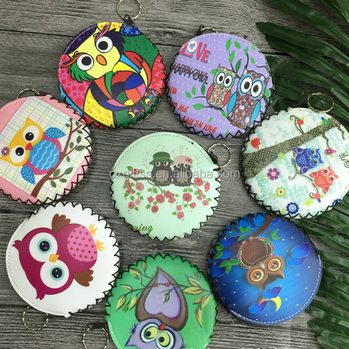 OXGIFT China Supplier Wholesale Manufacturing Factory Price Amazon Cartoon Animal Owl Pu printing Wallet purse