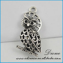 hollow OWL with circle^Custom design accepted^nickle&lead&cadmium free metal pendants&metal wine charm