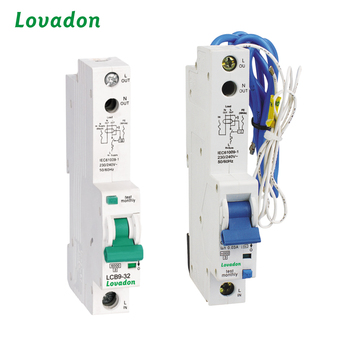 Single Phase RCBO Residual Current Circuit Breaker With Over Current And Leakage Protection