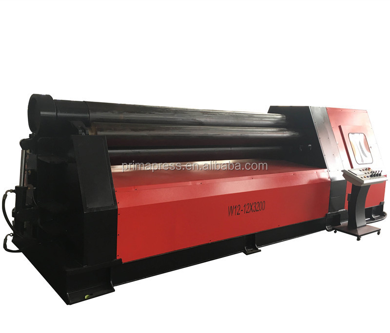 W11 12*2000 CNC Four Roller Steel Sheet Plate Bending Rolling Machine