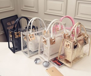 Korean Style 2017 Women Cross-body PU Transparent Messenger Bags Jelly Bag Zipper Gold Silvery Shoulder Mini Bag