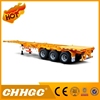 New design 2*20ft container trailer, container semi trailer sale, chassis