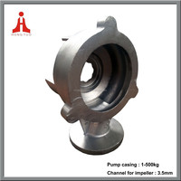 Investment casting lost wax casting hydraulic water pump casing body