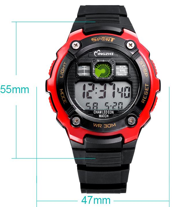 portable water fire monitor man running sports pedometer waterproof watch custom
