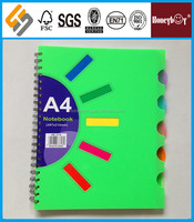 strong staple color pages spiral bound book printing