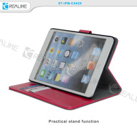 for ipad mini retina blank sublimation case, standing case leather for iPad mini retina with removable hard shell