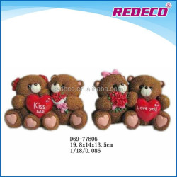 Resin i love you cheap teddy bear for wedding