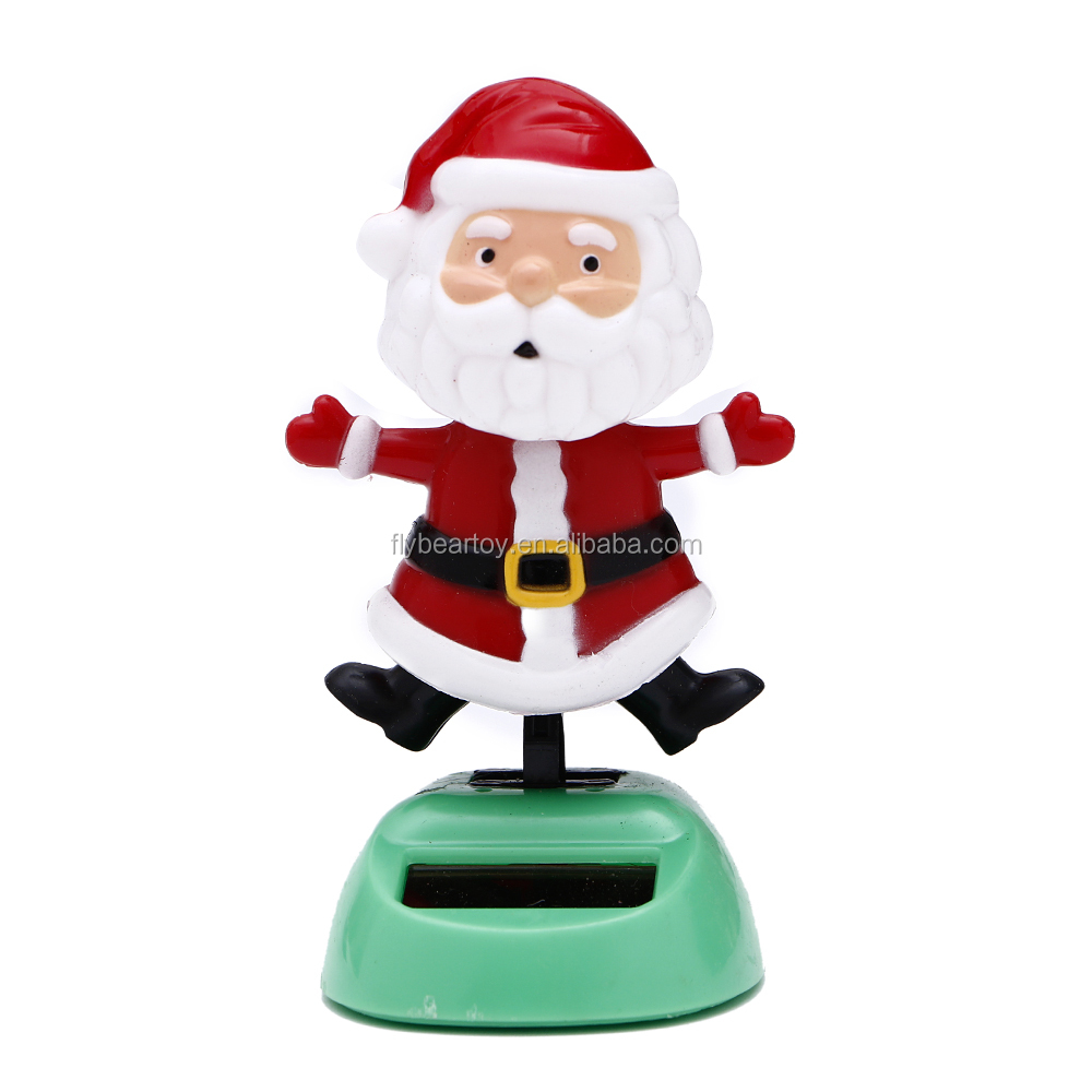 Santa Claus flip flop solar power toy Christmas decoration dancing toy