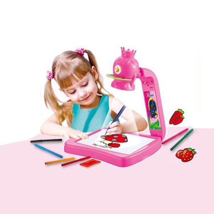 MOQ 1 Special 3 in 1 drawing set educational projector painting toy for <strong>kids</strong>
