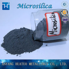 Microsilica for concrete admixtures and refractory