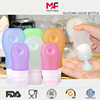 Silicone Rubber Empty Hand Sanitizer Comestic Bottle For Travel Kits With Plastic Cap