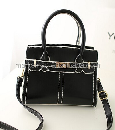 2015 hot sale wholesales stock long shoulder lady handbag pu bag